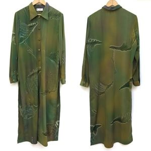 Funky Abstract Dye Art To Wear Duster Blouse Top